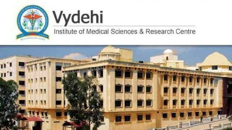MBBS ADMISSION IN VYDEHI INSTITUTE OF MEDICAL SCIENCES